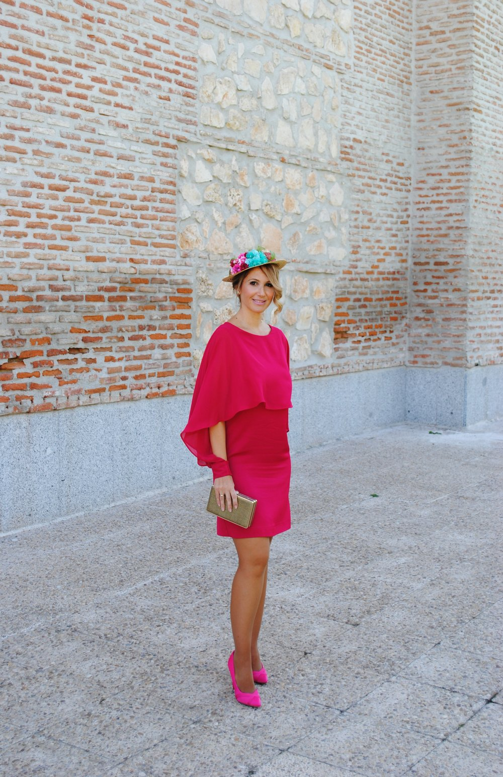 fucsia dress