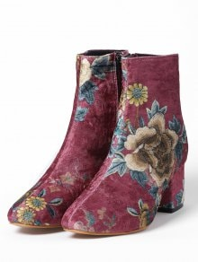 This floral booties/ Estos botines floreados