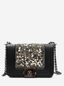 This bag in black with precious stones/ Este bolso en negro con piedras preciosas
