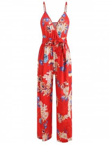 Floral-jumpsuit