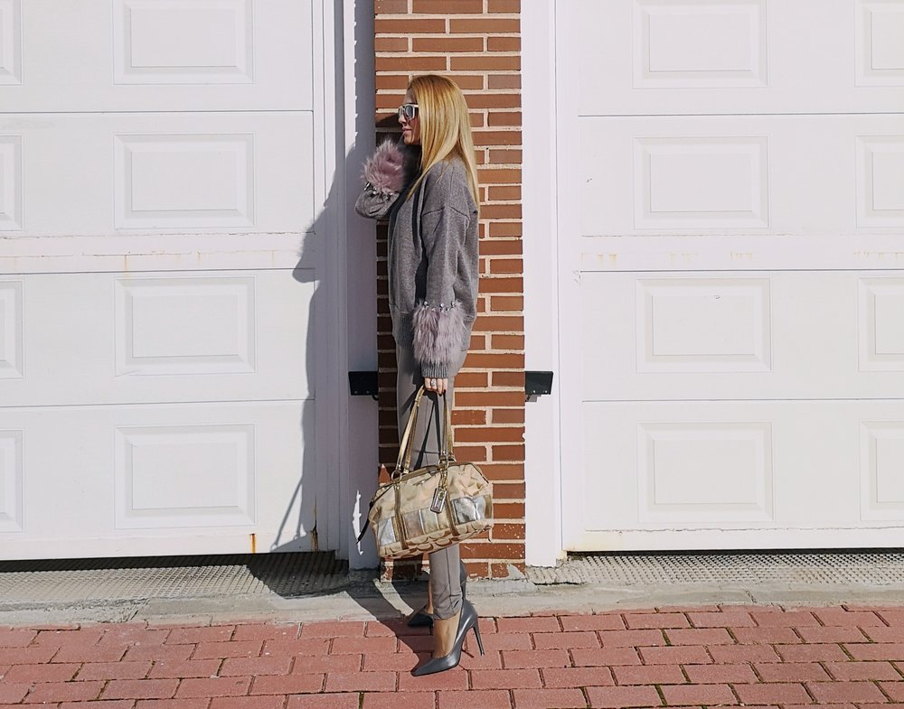 OUTFIT DETAILS: Sweater:  SHEIN ; Pants: BDBA; Shoes: ZARA (old); Bag: COACH; Sunnies: PARFOIS;