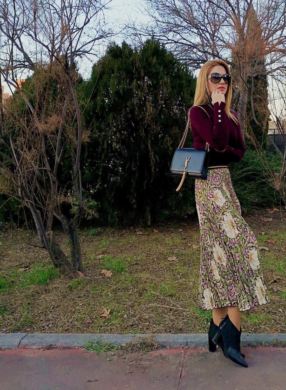 falda plisada Morris & Co