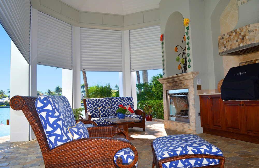 Built In Nautilus Hurricane Shutters