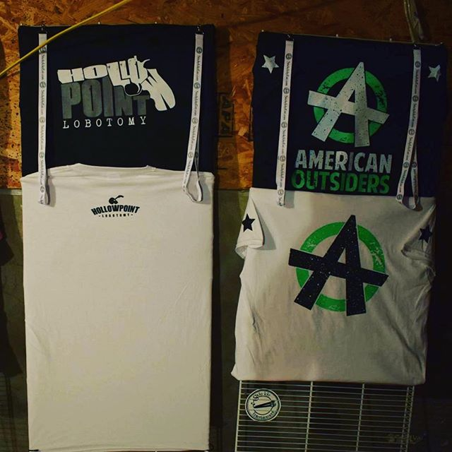 #merch #americanoutsiders #sie #stickyickyentertainment @stickyickyentertainment #hollowpointlobotomy
