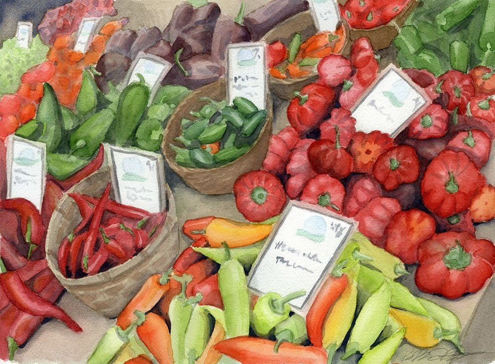 Peppers at the Farmers Market