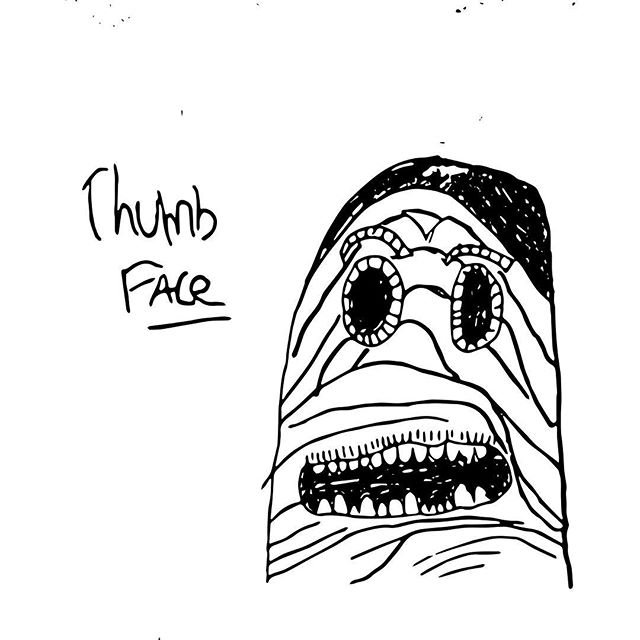 The demonically possessed thumb  Jeremiah.  #doodle #adobesketch #thumbsup #creepy