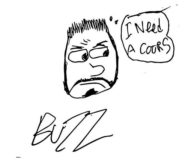 I think he looks like guy fieri.  #ddd #drawing #doodle #guyfieri #adobeshape