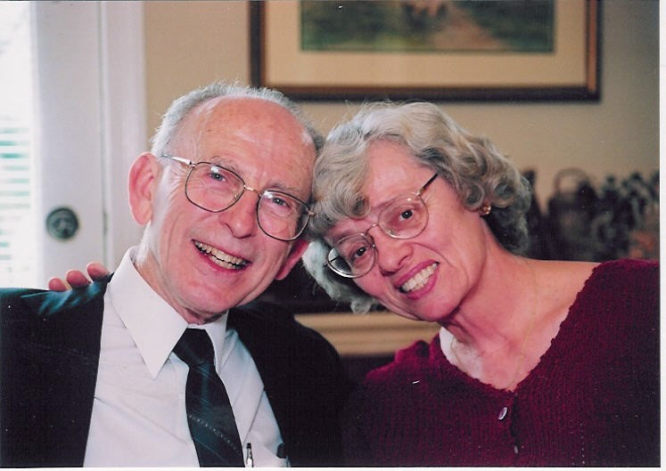 Mr. and Mrs. Leach at the Goodin wedding in 2001.