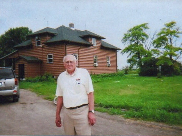 For his 80th birthday, Roland visited his family's  farmhouse near rural Norcross, Minnesota where he was born in the corner bedroom right behind his head. Most children were born at home back then.
