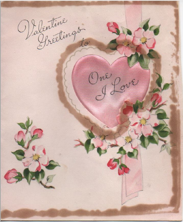 This is the front of the Valentine Roland has given Earlene every year since 1948.