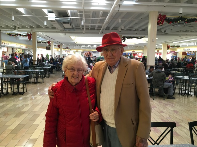 Woody and Earlene pausing during Christmas shopping to look fly in 2016.