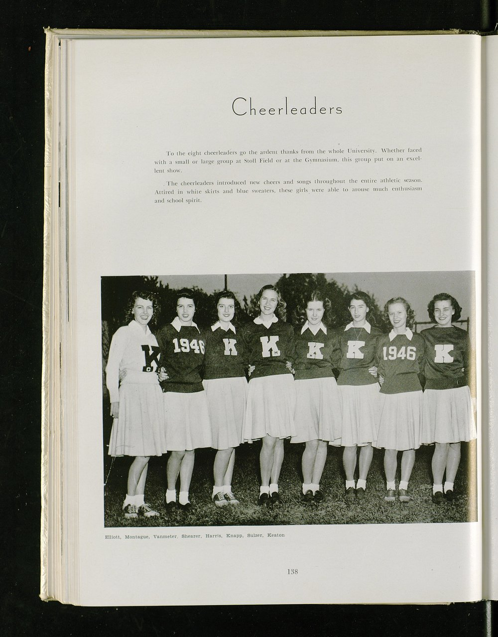 UK Cheerleading Squad 1946