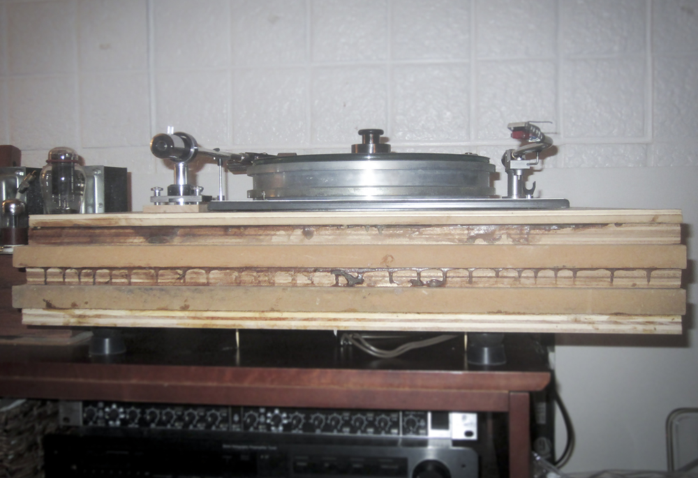 Figure 12: turntable and plinth - front view