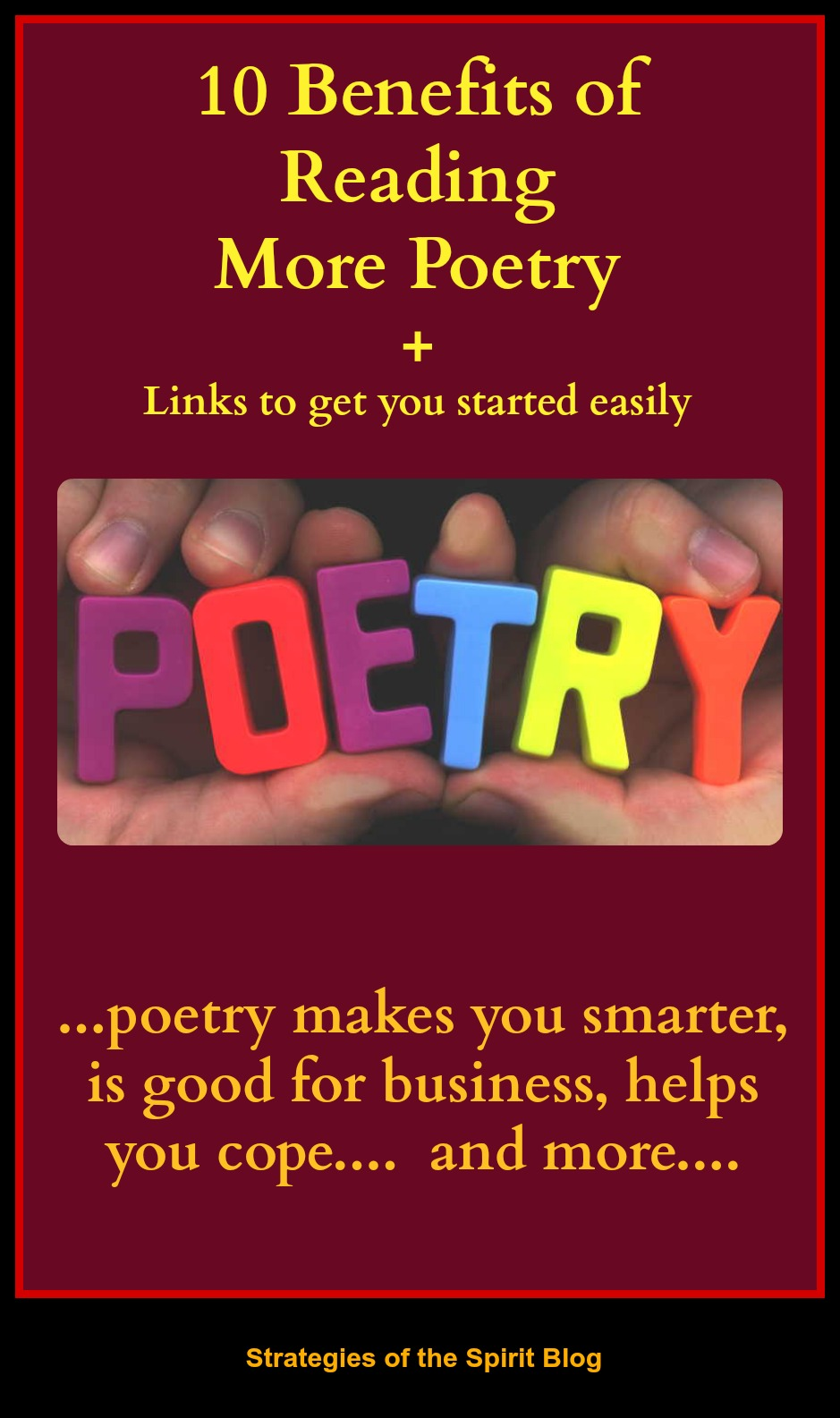 poetry month, poetry, strategies of the spirit, strategy of the spirit, benefits of poetry,