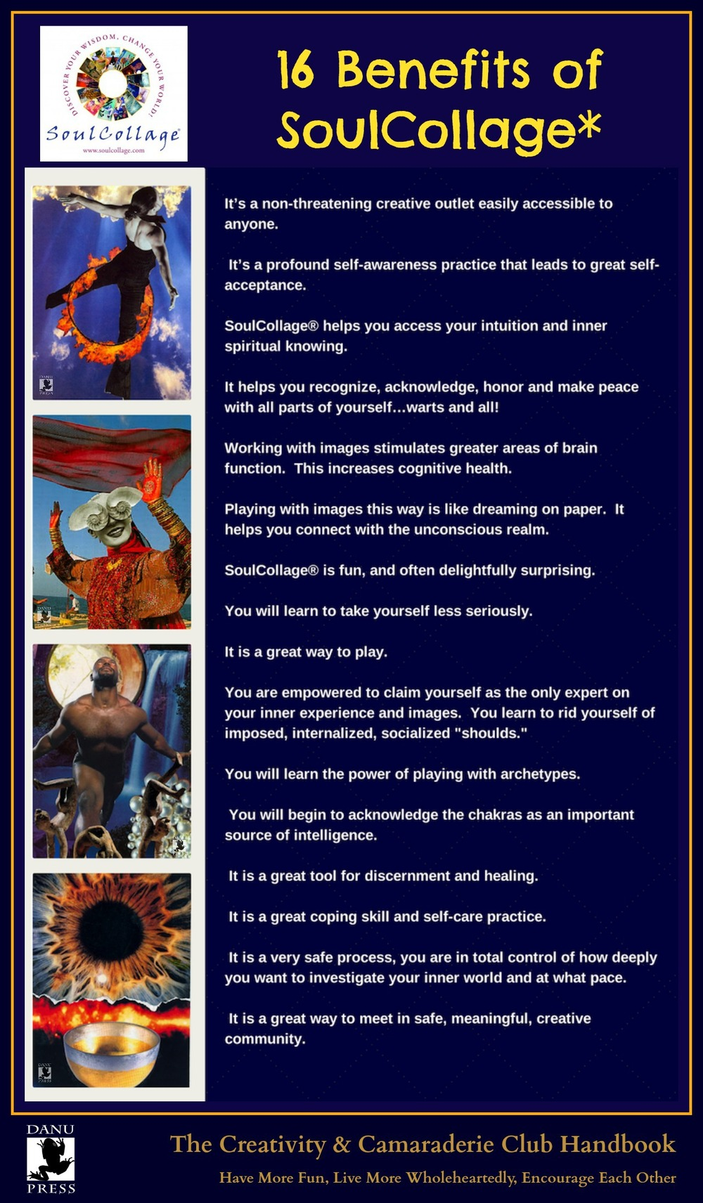 SoulCollage, Benefits of SoulCollage, SoulCollage infographic, SoulCollage cards, strategy of the spirit, strategies of the spirit