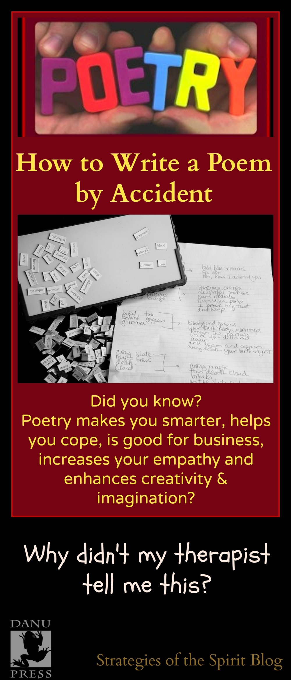 how to write a poem, poetry month, magnetic words, word magnets, poetry games, power poetry