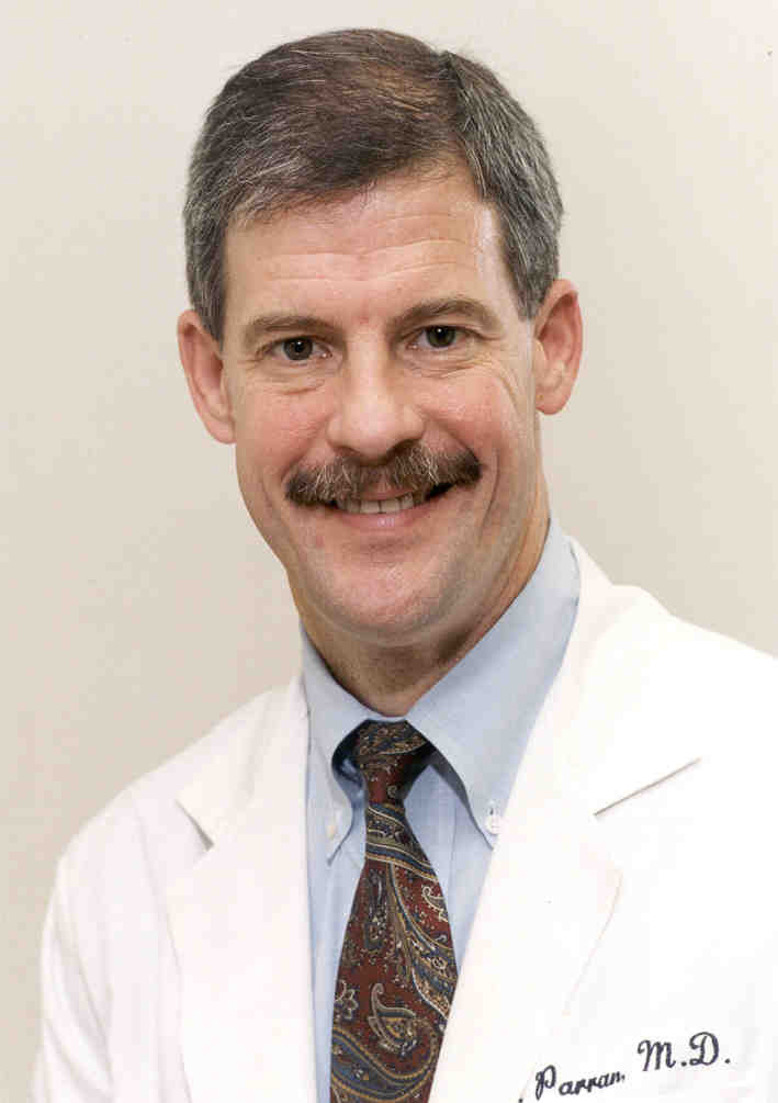 Dr. Ted Parran, associate medical director. Rosary Hall, St. Vincent Charity Medical Center.