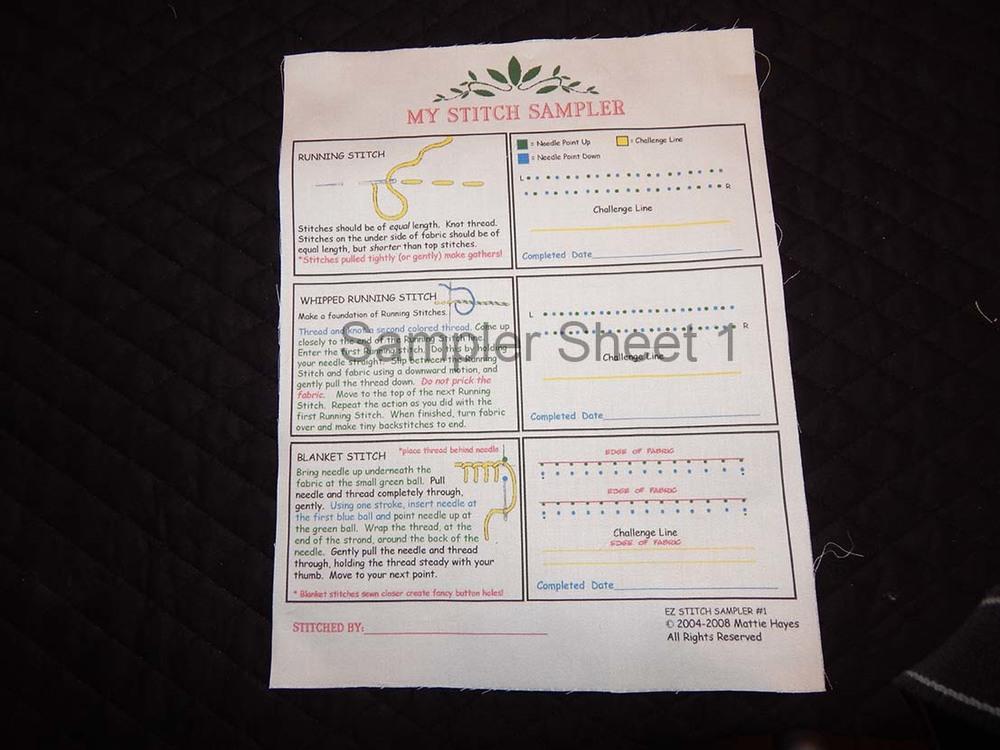 Sampler Sheet 1