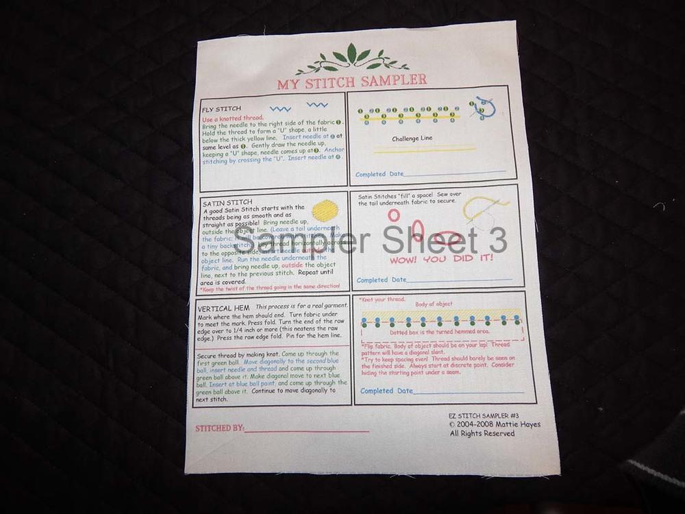 Sampler Sheet 3