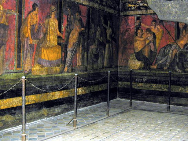 triclinium, Villa of the Mysteries