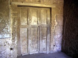 plaster cast of doors in Pompeii