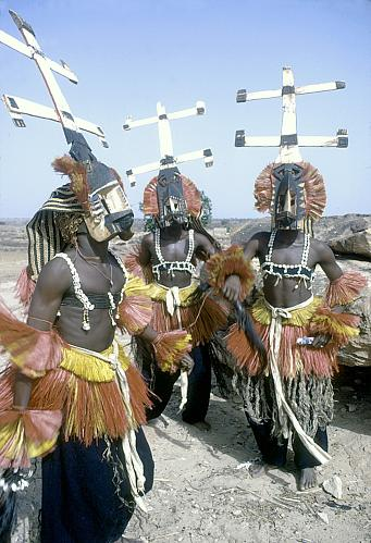 Dogon ceremonial dancers