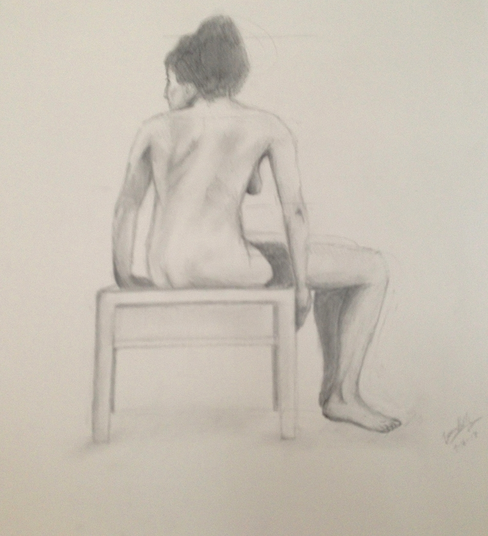 Seated Nude, 2013