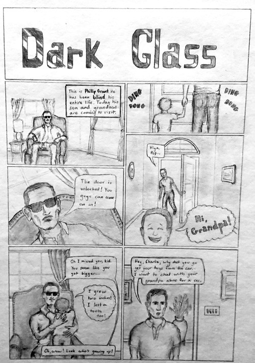 Dark Glass, Page 1 (2014)
