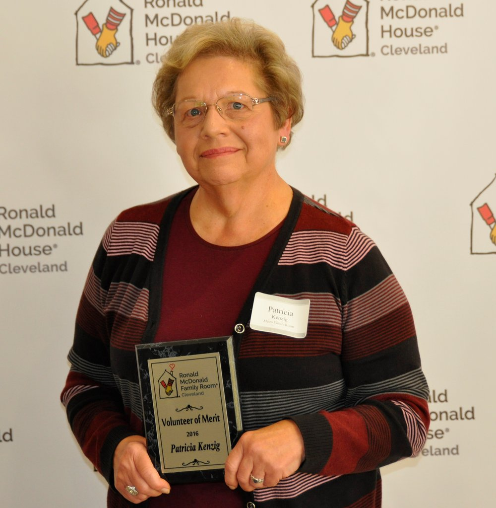 MetroHealth Family Room Volunteer of Merit