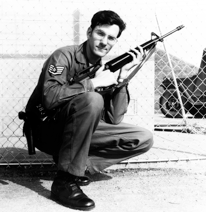 Dave Williams protecting an ammunition site in Korean in 1975