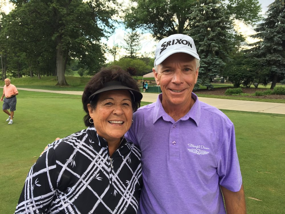 PGA Touring Pros Nancy Lopez and Larry Mize