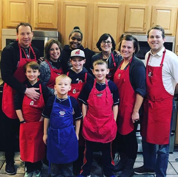 Chef April Thompson with Creech and Szczyglowski Families