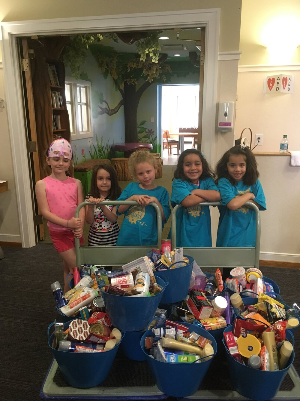 Daisy Troop - cookies, cards & wish list donation - 5.20.17.JPG