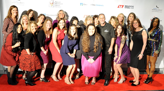 Majestic Steel USA team at Wine Women & Shoes benefiting Ronald McDonald House of Cleveland in 2018.