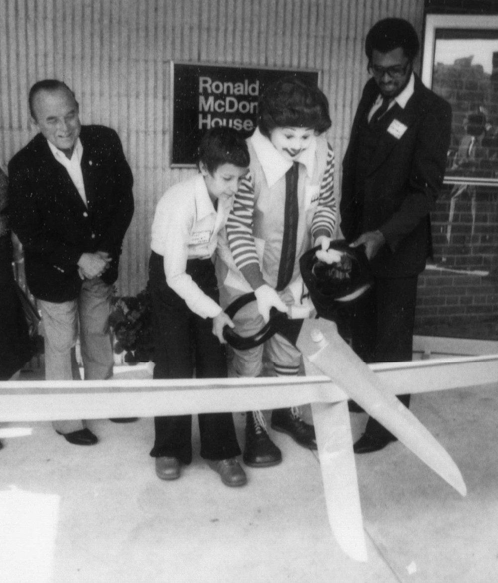 Ray Kroc (far left), Founder and CEO of McDonald's attending the Ronald McDonald House of Cleveland ribbon cutting ceremony on September 25, 1979