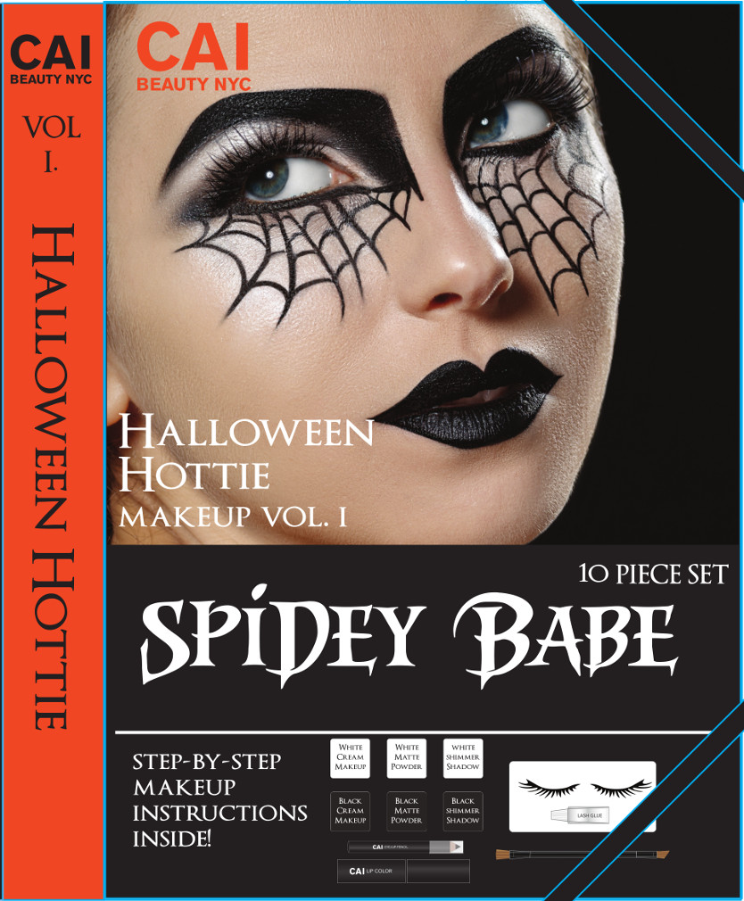 10 Piece Makup Set Halloween Hottie Costume Make Up Kit For Adults