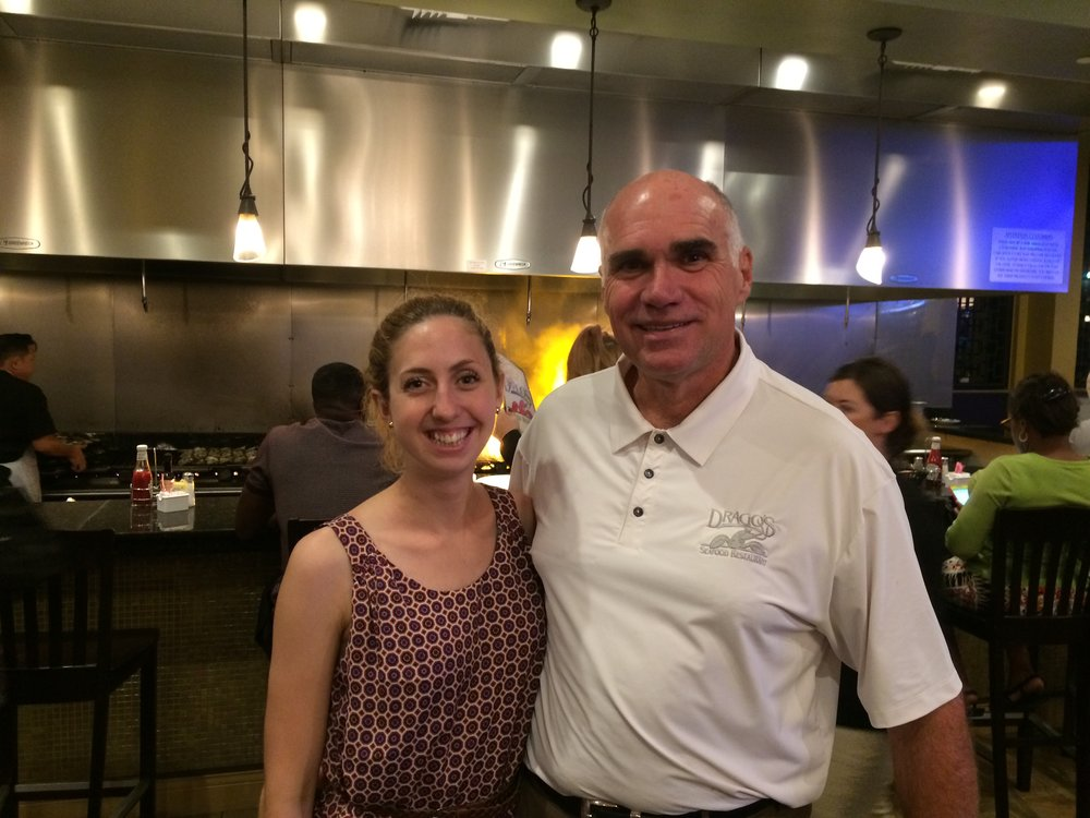 Ana Filipovic and Tommy Cvitanovich at Drago's Restaurant in New Orleans