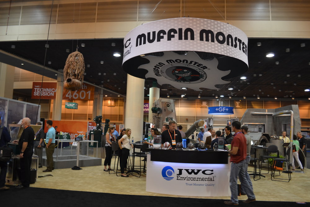 JWC Environmental booth at WEFTEC 2016