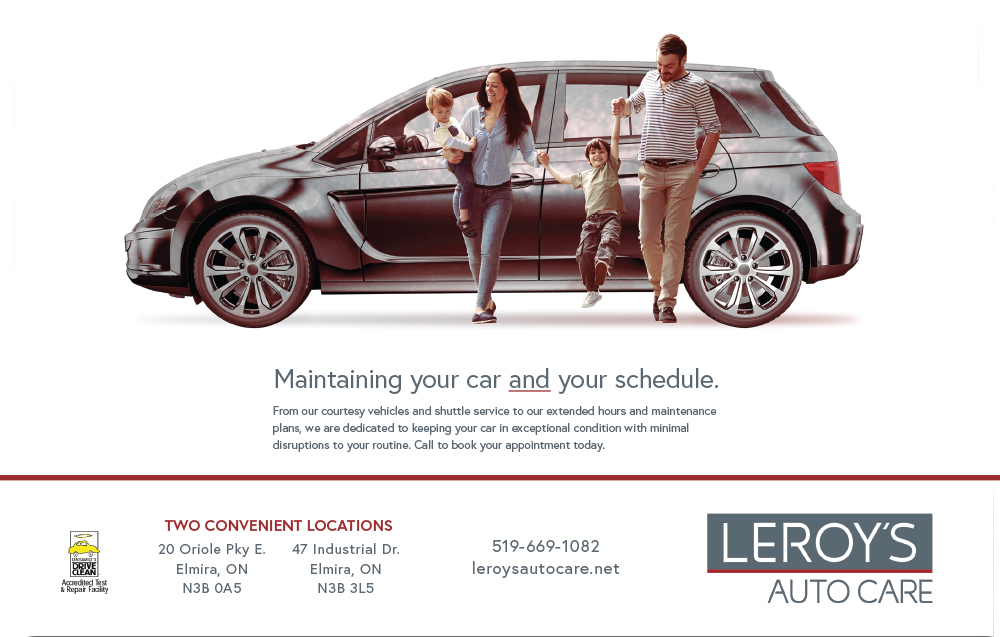The print campaign features nine ads that promote the variety of automotive services Leroy's offers its customers.  Working with the double exposure concept and keeping content streamlined supports the new brand's modern look.