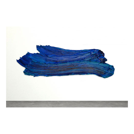 Páala, 2016 polymer and dispersed pigment on aluminum 31 x 85 inches (71.84 x 215.9 cm)