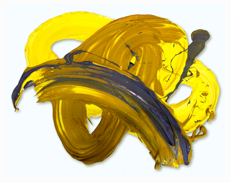 Ami, 2019 (polymer and dispersed pigment on aluminum), 42 x 67 in.