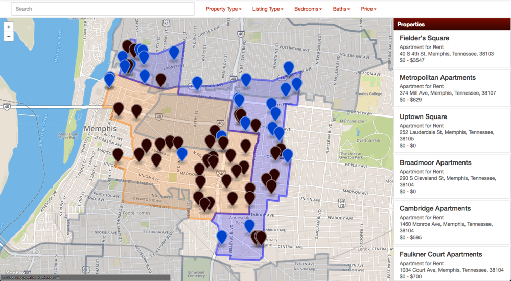 Disclaimer: 1) The map depicts potentially available properties and known apartment buildings. This map is meant to be used as a supplemental tool for your housing search, but some listings and information may be out of date, incomplete, or incorrect. The MMDC will make its best effort to keep all information and available properties up to date; however, the best sources for information are real estate agents and property managers. 2) Property incentives may differ from what is offered by your institutions program. The incentives listed at the top of the page and in the program guidelines determine your maximum subsidy.