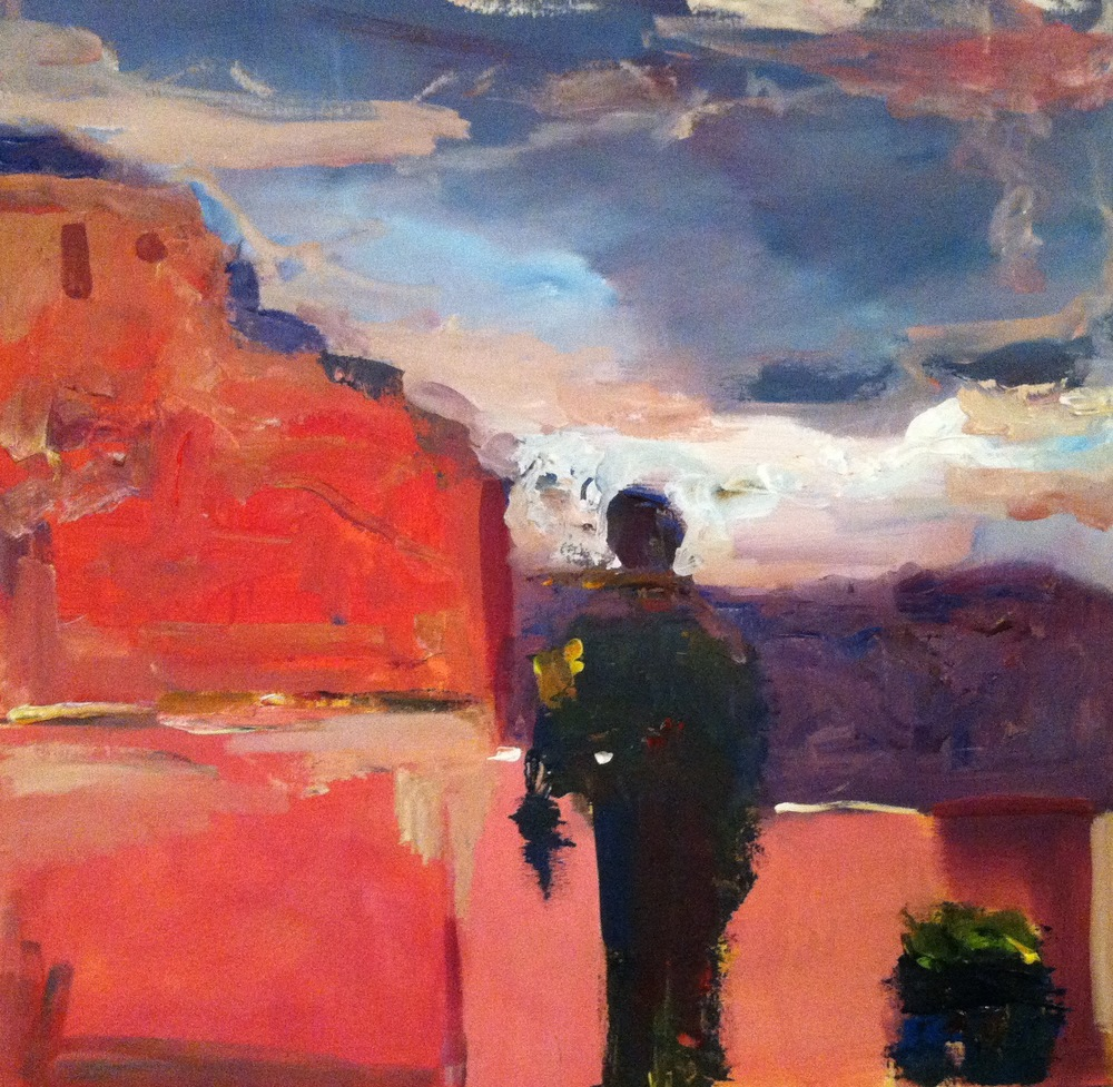 "Santa Fe,""30x30"" oil on canvas, sold"