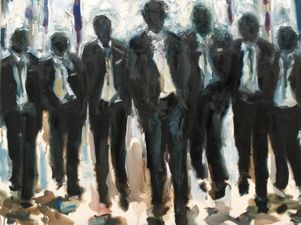 """The Wedding Party,""""30x40"""", oil on canvas"""