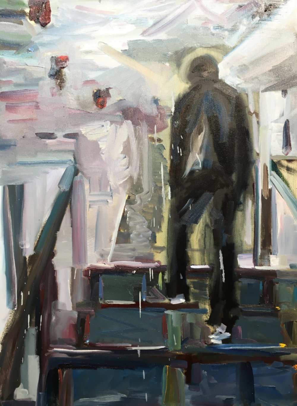 """The Visitor, """"30x40"""", oil on canvas SOLD"""