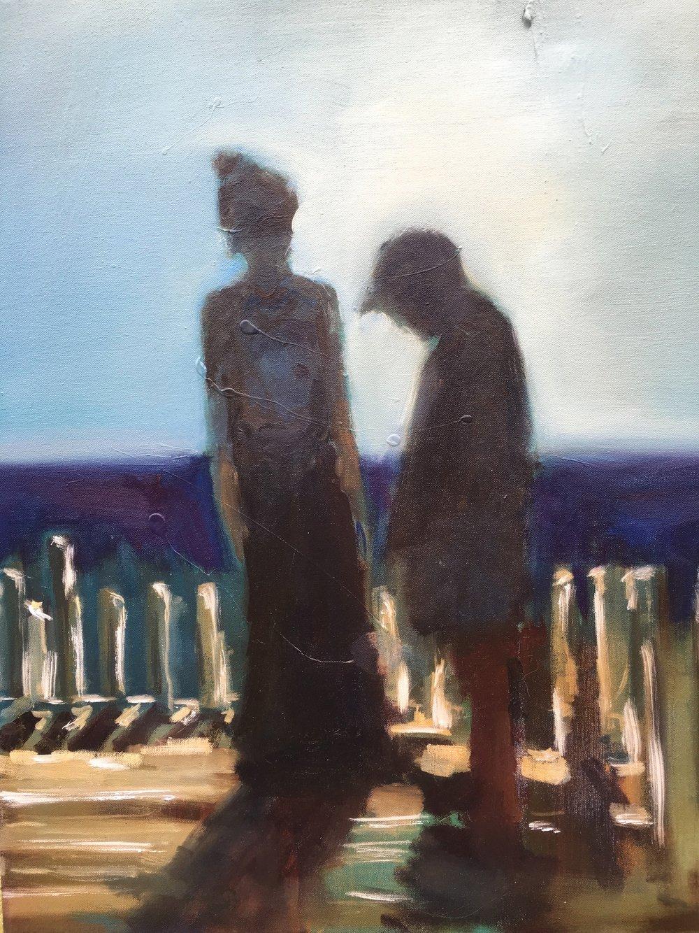 "Rachel and George,""24x30"", oil on canvas"