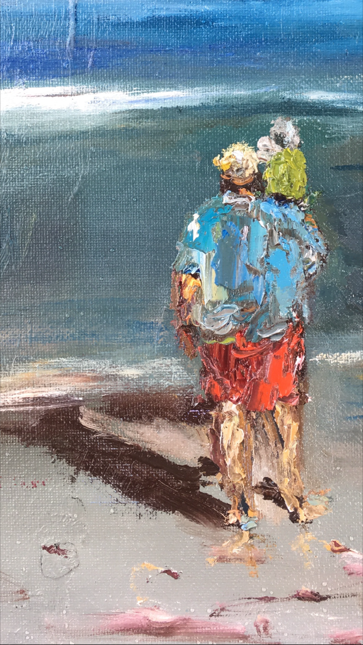 """9x12 oil on board, """"Fathers and Son"""""""