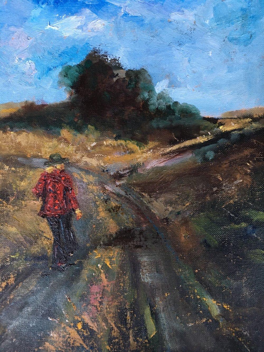 """12x9 oil on canvas board""""Three Rivers Trail"""""""