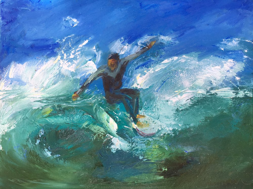 "12x16 oil on canvas board ""Malibu"""