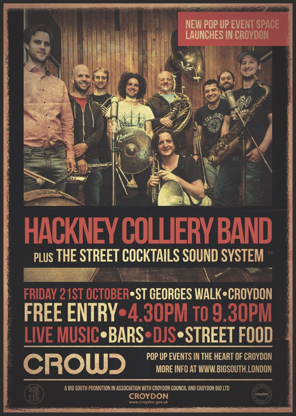CROWD Launch feat. Hackney Colliery Band
